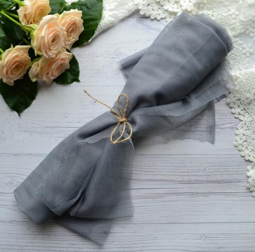 Фатин мягкий Серый