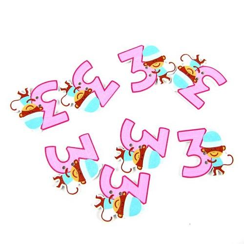 Пуговицы декоративные Цифра 3 B044