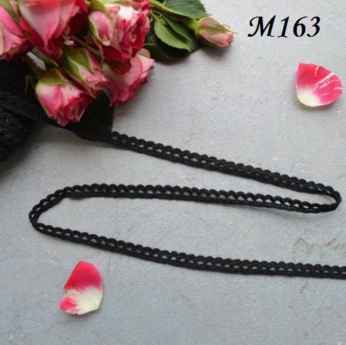 Кружево черное 7 мм • M163
