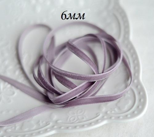 Лента бархатная фиолетовая • MB05 1