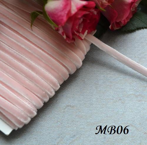Лента бархатная розовая • MB06