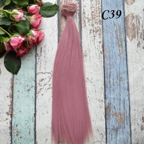 Волосы для кукол прямые C39 • VC39 25