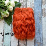 Волосы Козочка для кукол рыжие КOrange