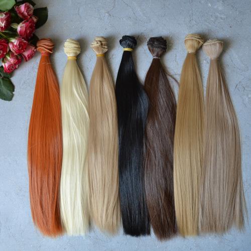 • Искусственные волосы для кукол. Эти волосы прекрасно подойдут для текстильной куклы и для восстановления кукольных волос. Ширина треса: 1 метр. Цена указана за 1 метр.