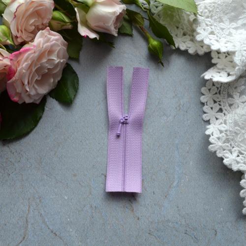 Молния для кукольной одежды 9см светло-фиолетовая • az915