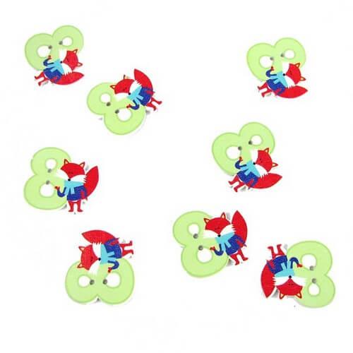 Пуговицы для детской одежды цифра 8