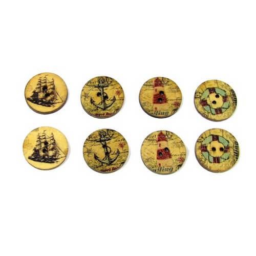 Пуговицы декоративные Морские B047