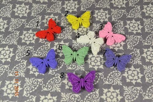 • Пуговицы Бабочка. Размер 24*20 мм Цена указана за 5 шт. Микс.
