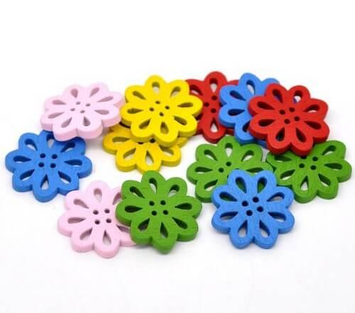 • Пуговицы цветы. Размер 20 мм Цена указана за 5 шт. Микс.