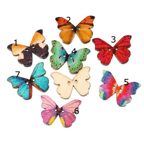 • Пуговицы бабочки. Размер 28*25 мм Цена указана за 5 шт. Микс.