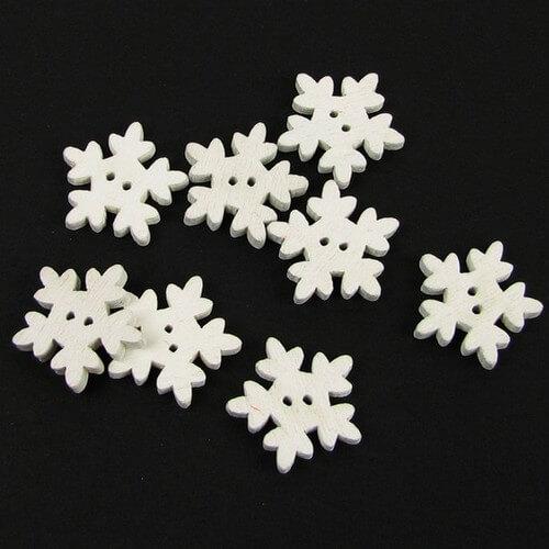 Пуговицы для кукольной одежды Снежинка