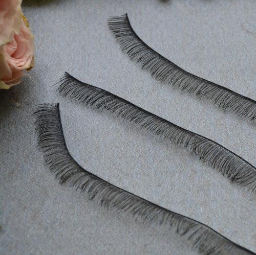 Ресницы для куклы черные 8мм • g06 1