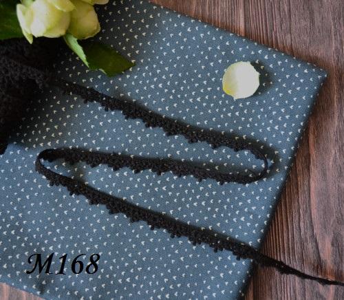 Кружево цветочки черное • m168