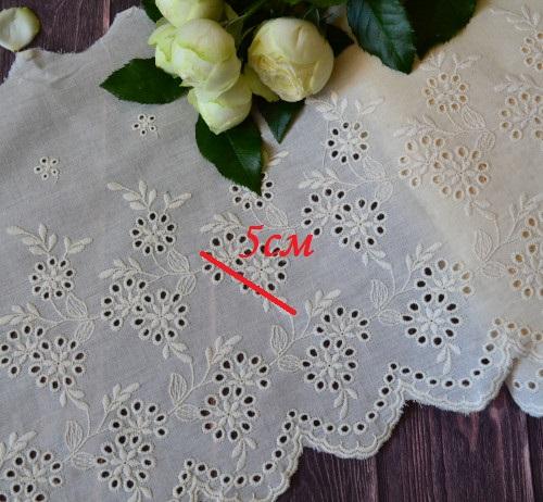• Кружево прошва с фестонами для рукоделия и шитья.  Ширина: 24 см.  Цена указана заотрез 50 см.