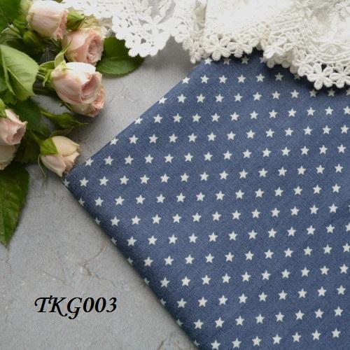 • Джинсовая ткань, Китай. Ширина ткани 148см. Размер звездочки 6 мм. Цена указана за 1 отрез 1 отрез – 20*50см 2 отреза - 40*50см 3 отреза - 60*50см … 7 отрезов 140*50см