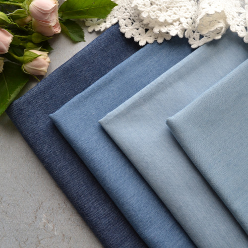 • Джинсовая ткань, Китай. Ширина ткани 148см.   Цена указана за 1 отрез 1 отрез – 20*50см 2 отреза - 40*50см 3 отреза - 60*50см … 7 отрезов 140*50см