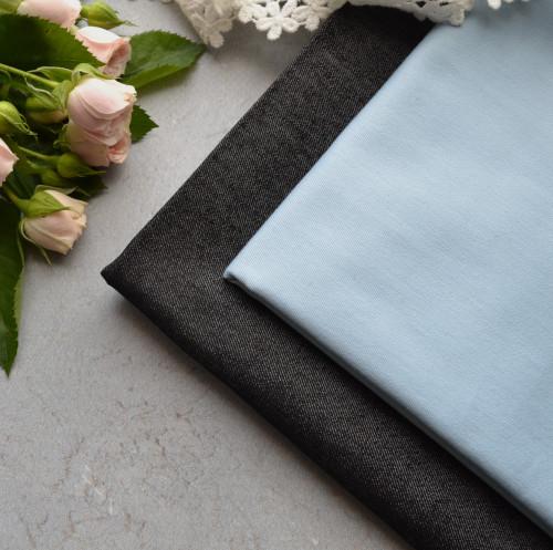 • Джинсовая ткань. Стрейч. Ширина ткани 150см. Цена указана за 1 отрез 1 отрез – 20*50см 2 отреза - 40*50см 3 отреза - 60*50см … 7 отрезов 140*50см