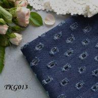 Джинсовая ткань  для рукоделия TKG013. Отрез 20*50см