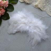 Крылья для куклы белые 15*10см