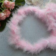 Боа из пуха розовое AL10