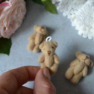 Мишка для куклы коричневый 3.5см