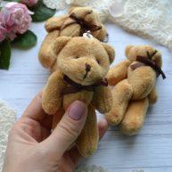 Мишка коричневый 11см для куклы