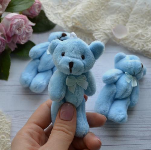 • Мишка голубой. Размер  8 см Цена указана за 1 шт.
