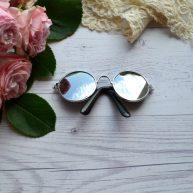 Очки для куклы зеркальные 8*2.6см