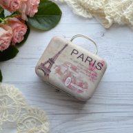 Сумка чемодан для куклы Париж