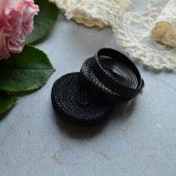 Липучка для кукольной одежды черная 6мм MF98
