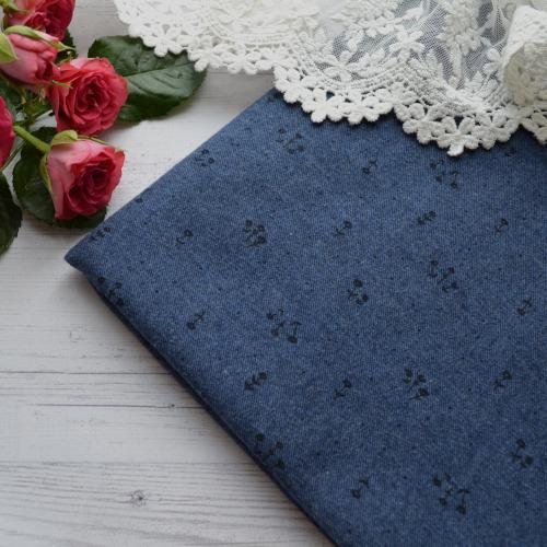 Ткань для кукольной одежды синяя TKR059