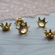 Корона для куклы золото 15*7мм