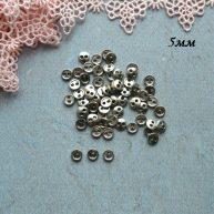 Пуговицы для кукольной одежды 5мм B153 серебро
