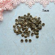Пуговицы бронза для кукольной одежды 5 мм