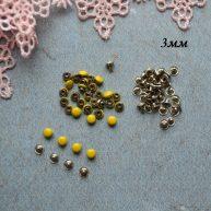Хольнитены 3 мм желтые. Основа серебро
