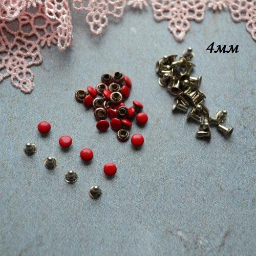 • Хольнитены красные. Размер 4 мм Цена указана за 10 шт.