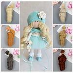 Как приклеить волосы кукле Барби м текстильной кукле