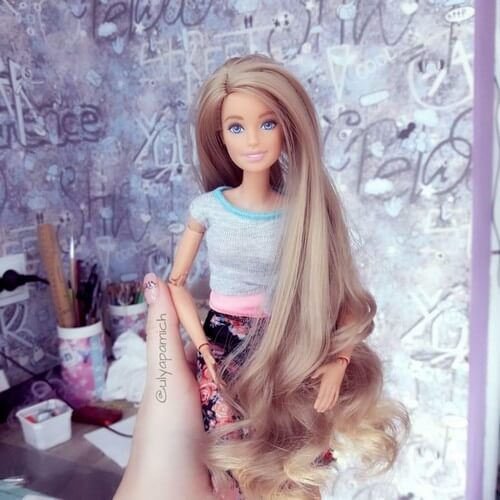 Барби с перешитыми волосами 2110-03
