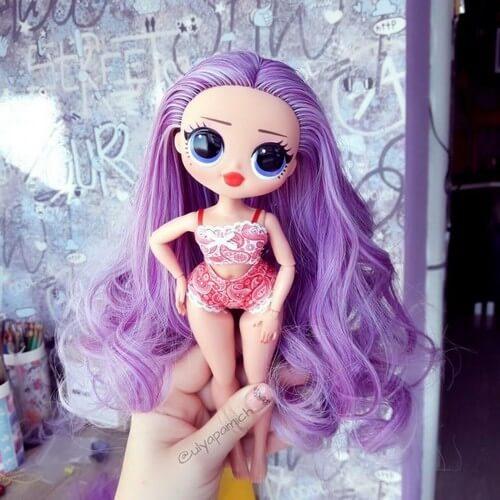 Кукла с перешитыми волосами 2110-01