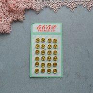 Кнопка пришивная для кукольной одежды золото 6мм MF104