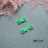 Фастекс пластиковый 4 мм салатовый 2шт.