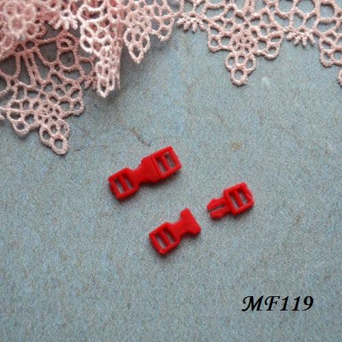 • Фастекс красный. Длина 16мм, Размер под ремешок 4мм Цена указана за 2шт.