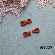 Фастекс пластиковый 4 мм коричневый 2шт.