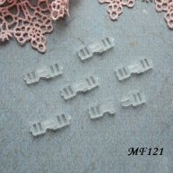 Фастекс пластиковый 4 мм прозрачный 2шт. MF121