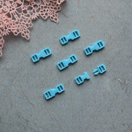 • Фастекс голубой. Длина 16мм, Размер под ремешок 4мм Цена указана за 2шт.
