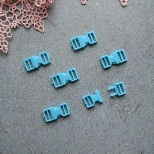 • Фастекс голубой. Длина 16мм, Размер под ремешок 6 мм Цена указана за 2шт.
