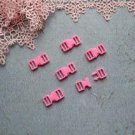 Фастекс пластиковый 6 мм розовый 2шт.