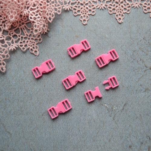 • Фастекс розовый. Длина 16мм, Размер под ремешок 6 мм Цена указана за 2шт.