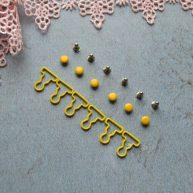 Застежка для кукольной одежды желтая 1 пара