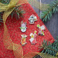 Пуговицы декоративные новогодние B170